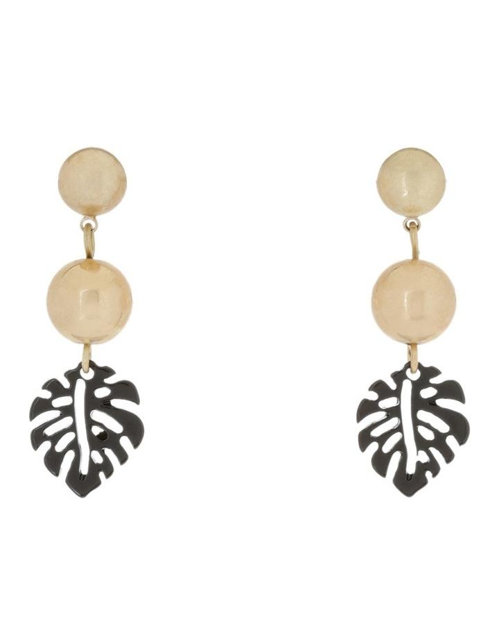 Stud Leaf Drop Earrings image 1