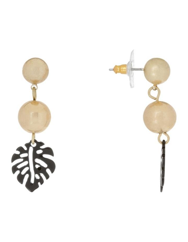 Stud Leaf Drop Earrings image 2