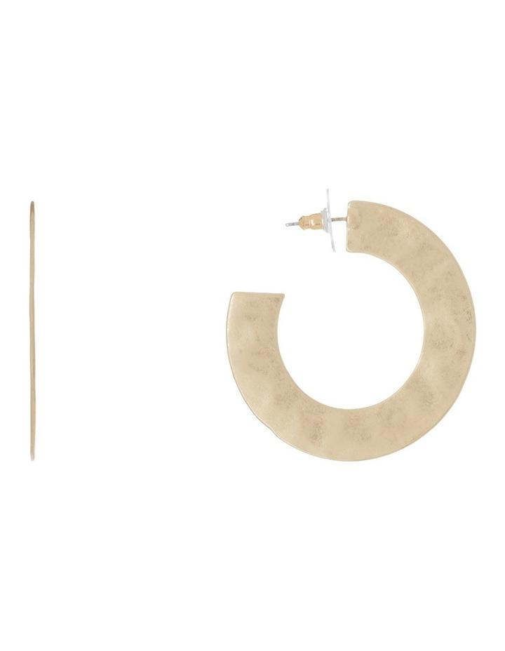 Flat Hoop Earrings image 1