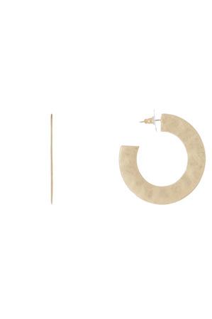 Wayne Cooper - Flat Hoop Earrings