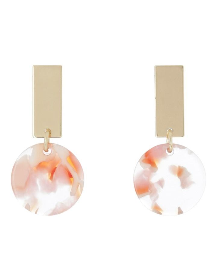 Bar Drop Patterned Resin Earrings image 1