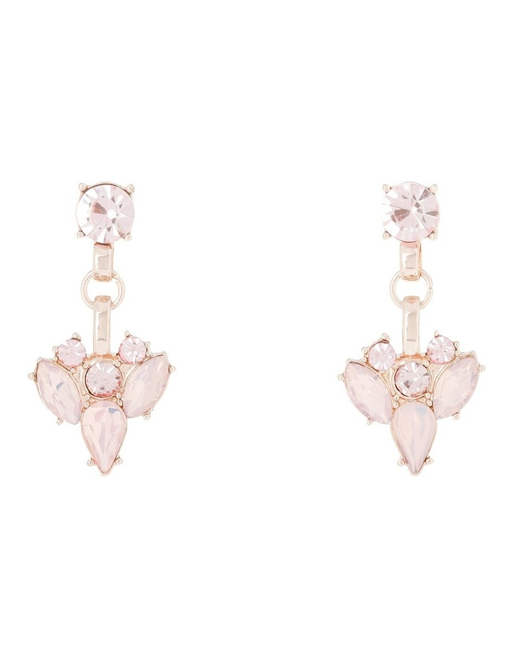 Statement Crystal Earring Blush Opal image 3