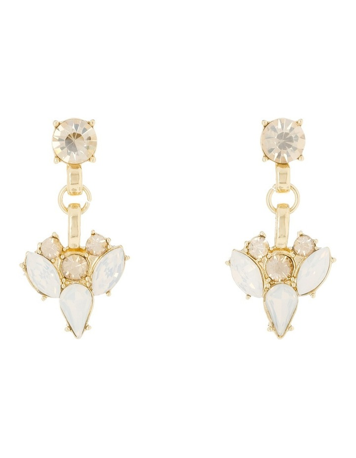 Statement Crystal Earring Clear Opal image 3