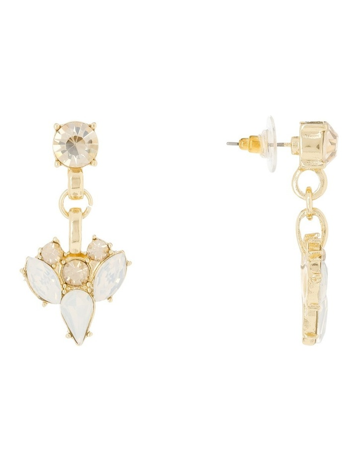 Statement Crystal Earring Clear Opal image 2