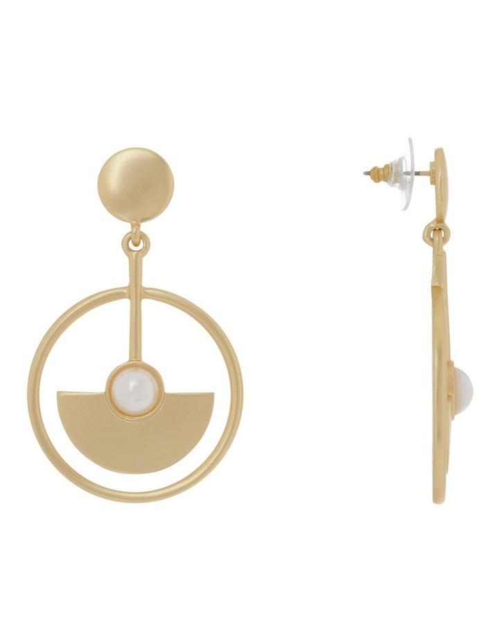 Semicircle Pearl Detail Drop Earring image 2