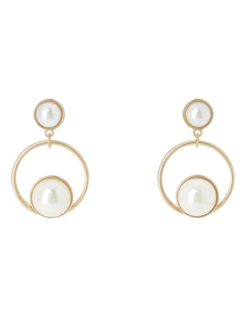 44d08ce657f91e Trent Nathan Half Pearl Hoop Studs