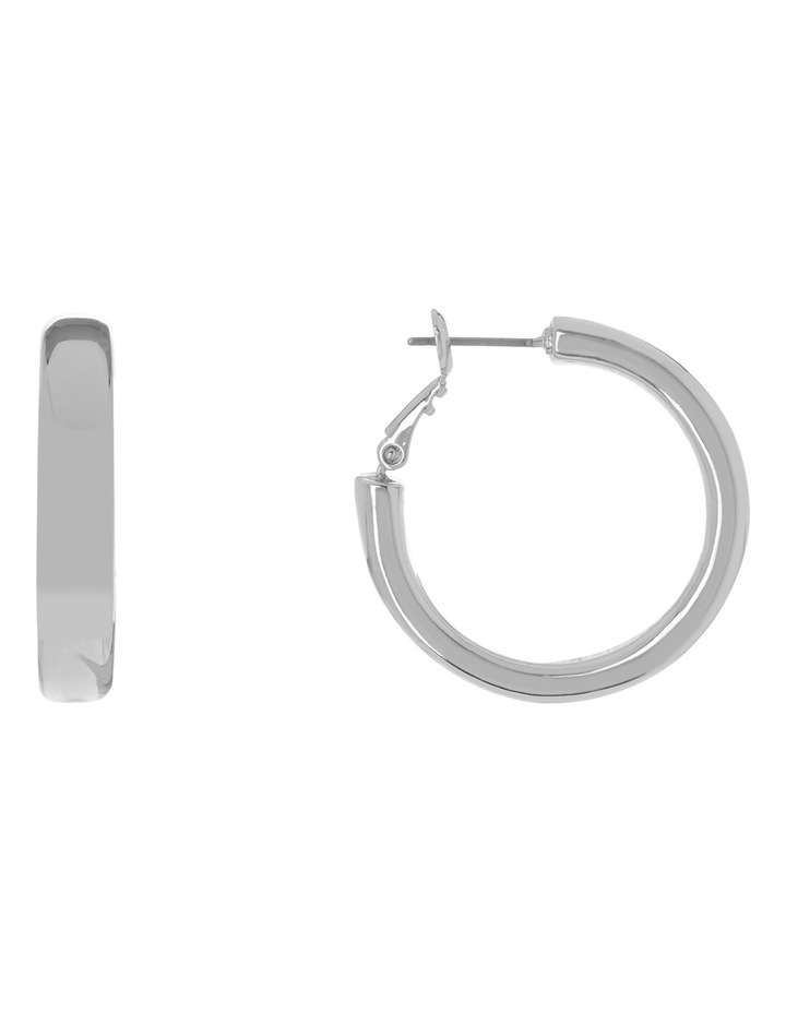 Rounded Hoop Silver image 1