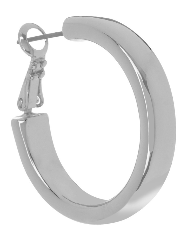 Rounded Hoop Silver image 2