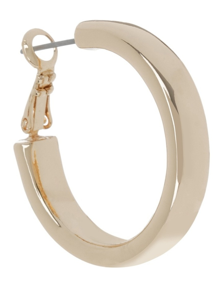 Rounded Hoop Gold image 2