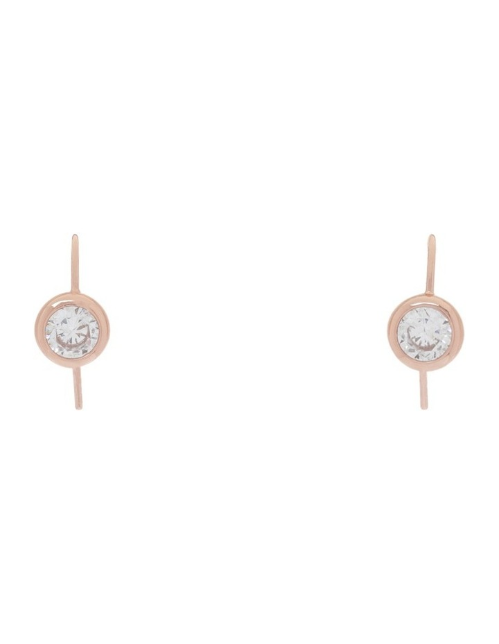 CZ Solitaire Drop Earrings image 1