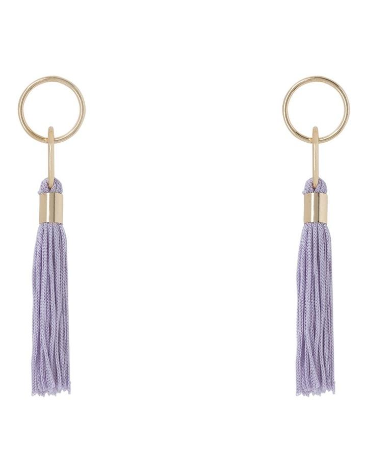 Delicate Tassel Earring Lilac image 1