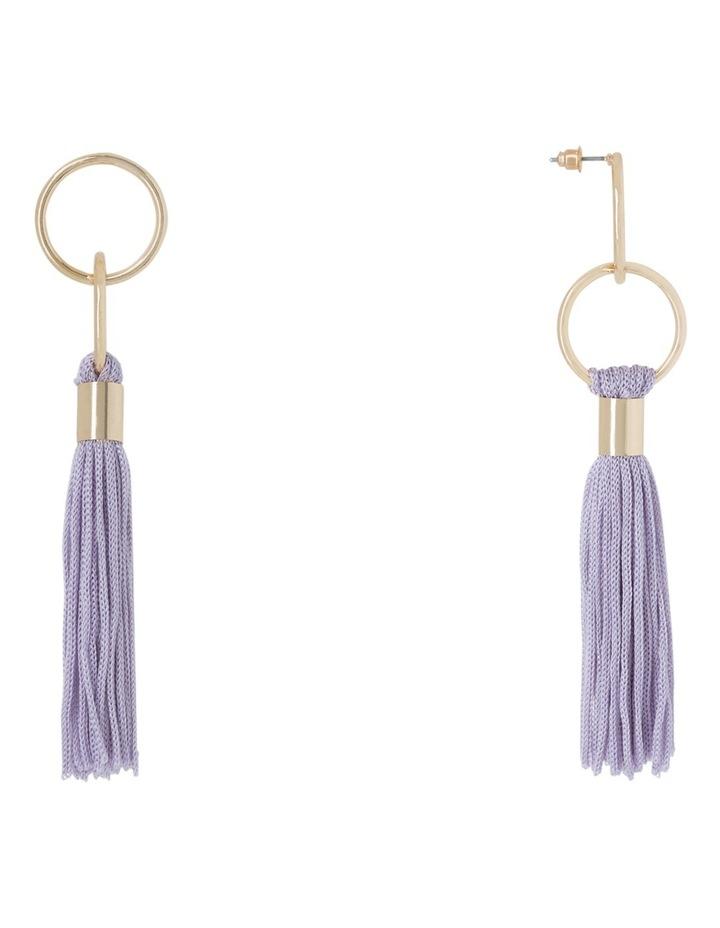 Delicate Tassel Earring Lilac image 2