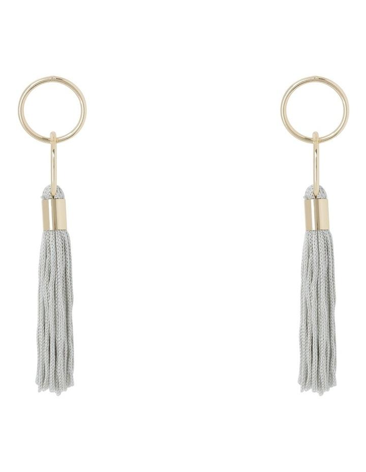 Delicate Tassel Earring Grey image 1