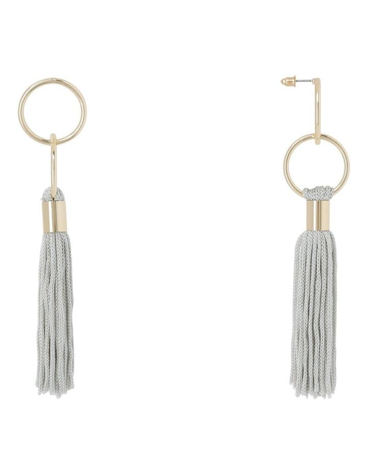 Delicate Tassel Earring Grey image 2
