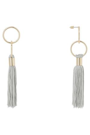 Basque - Delicate Tassel Earring Grey