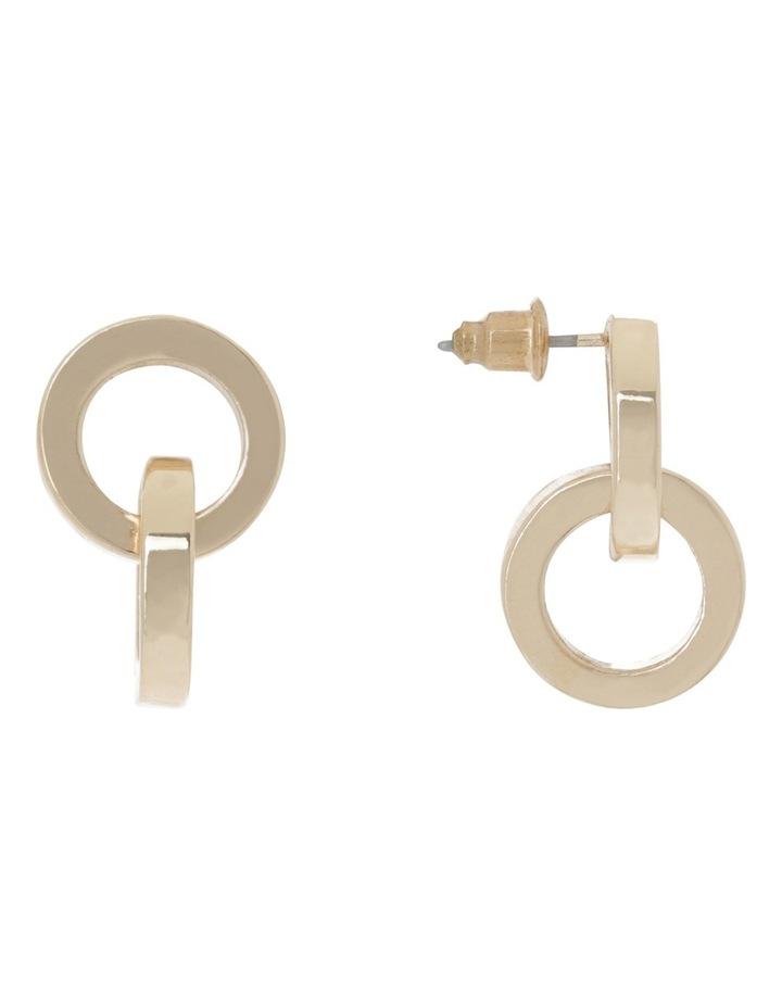 Petite Twist Stud Earring Gold image 2