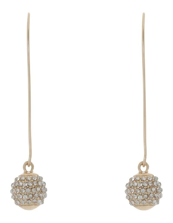 Diamante Ball Drop Earring Gold image 1
