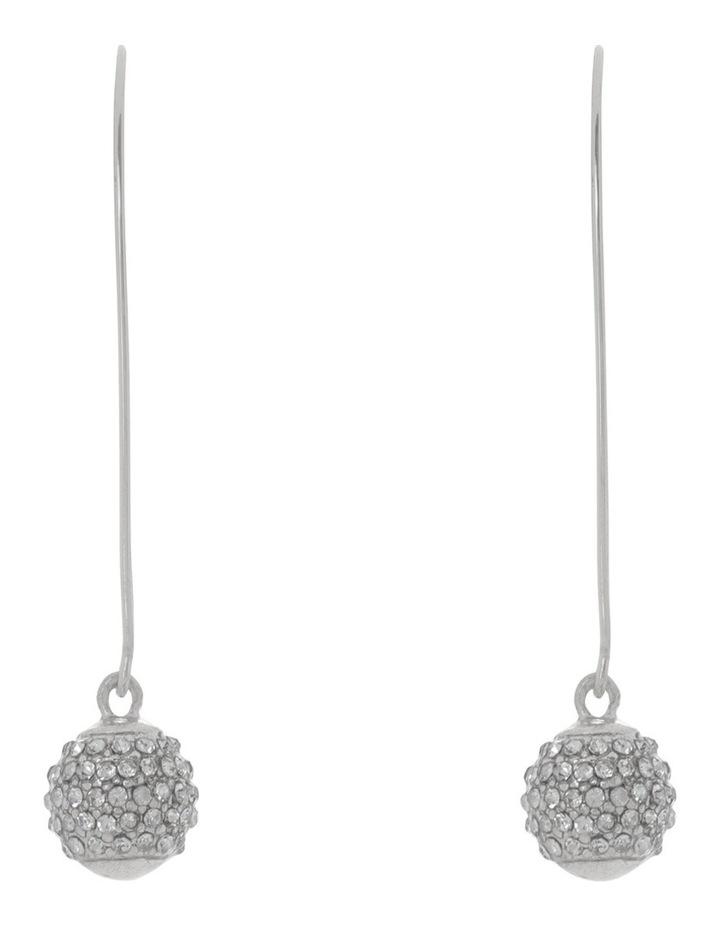 Diamante Ball Drop Earring Silver image 1
