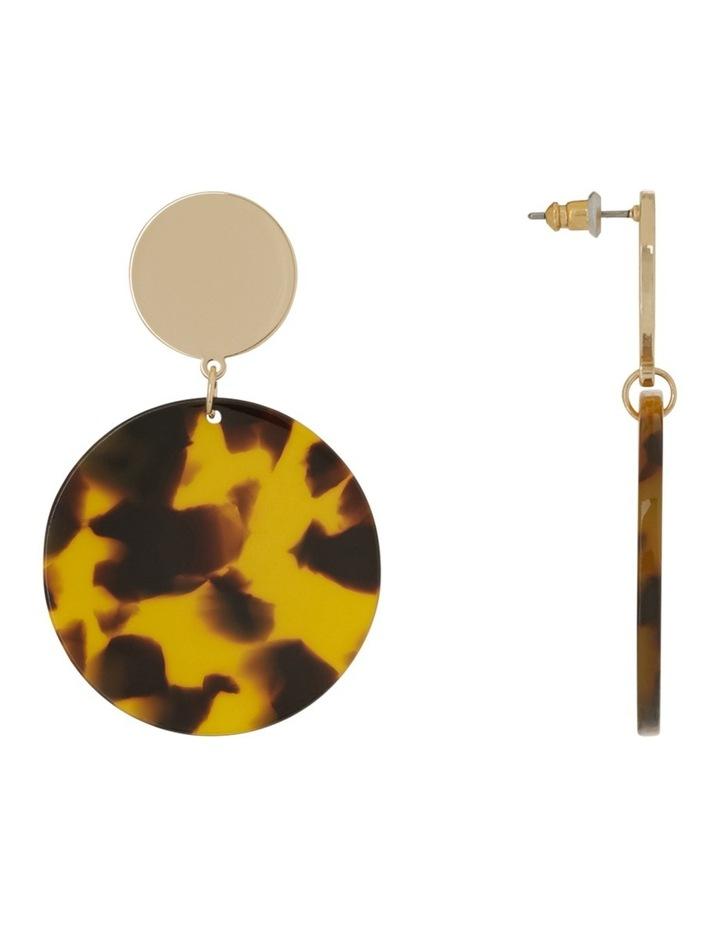 Hanging Acrylic Circle Earring Tort image 2