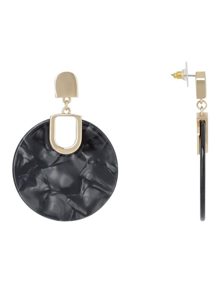 Acrylic Circle Drop Earring Grey image 2