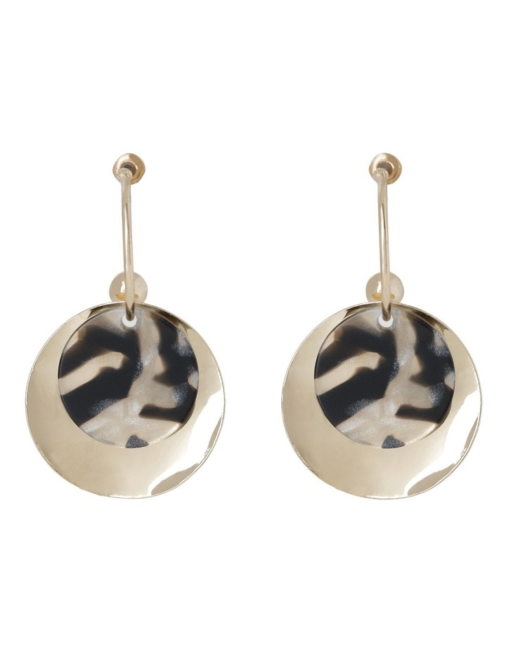 Two Layer Tort & Metal Drop Earring image 1