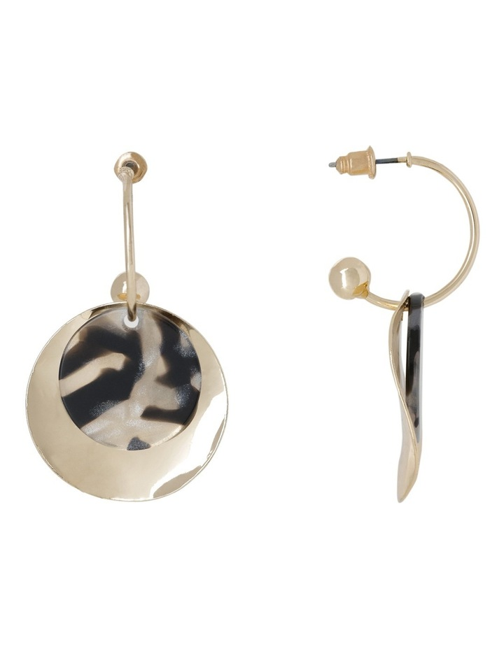Two Layer Tort & Metal Drop Earring image 2
