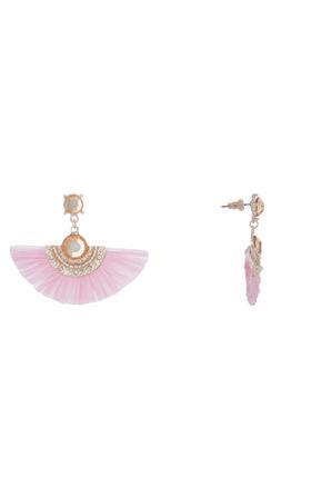 Piper - Jewelled Half Fan Earring