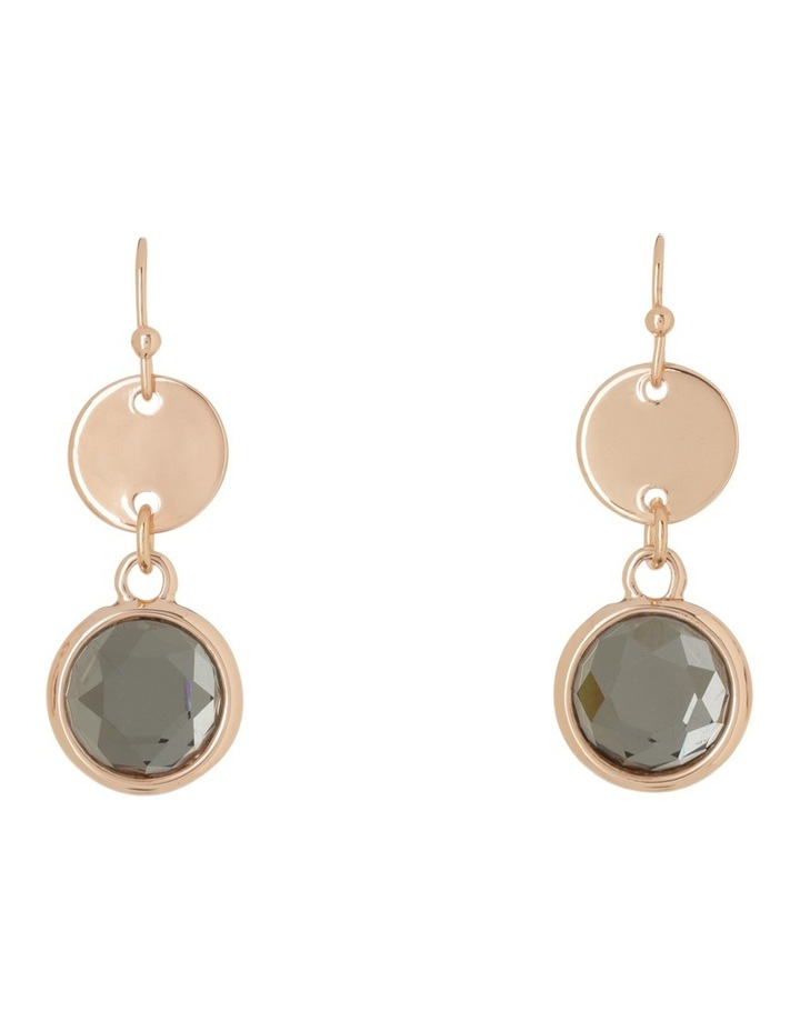 Small Disc and Crystal Drop Earring image 1
