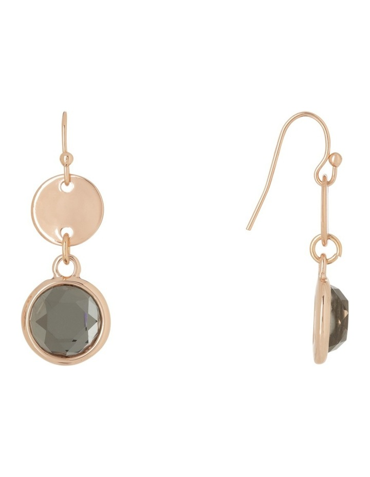 Small Disc and Crystal Drop Earring image 2