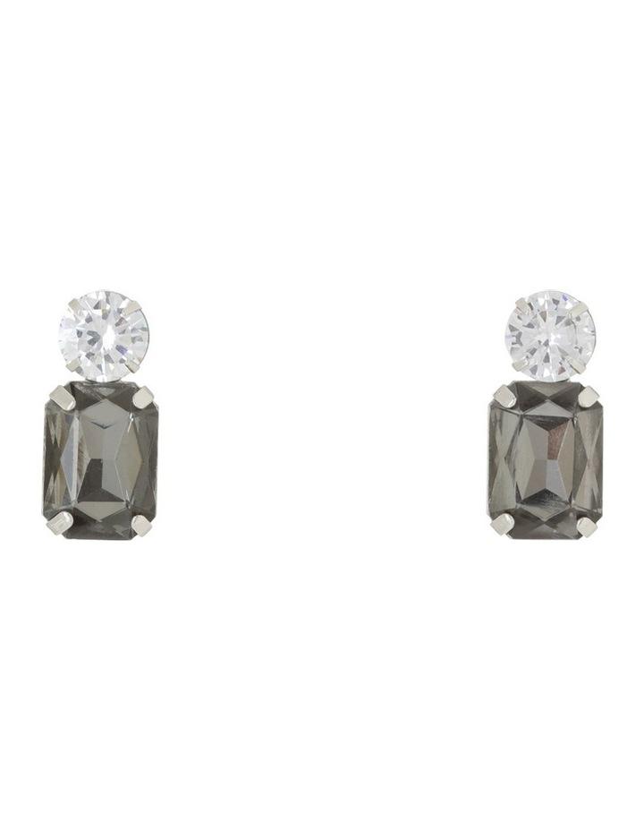 Crystal Geometric Stud Earring image 1