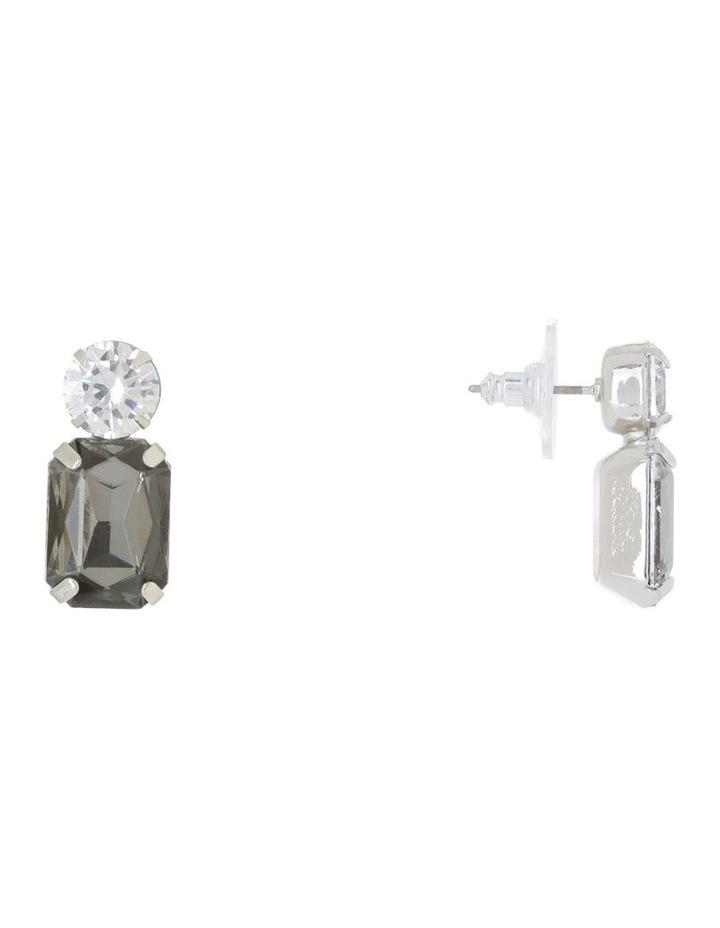 Crystal Geometric Stud Earring image 2