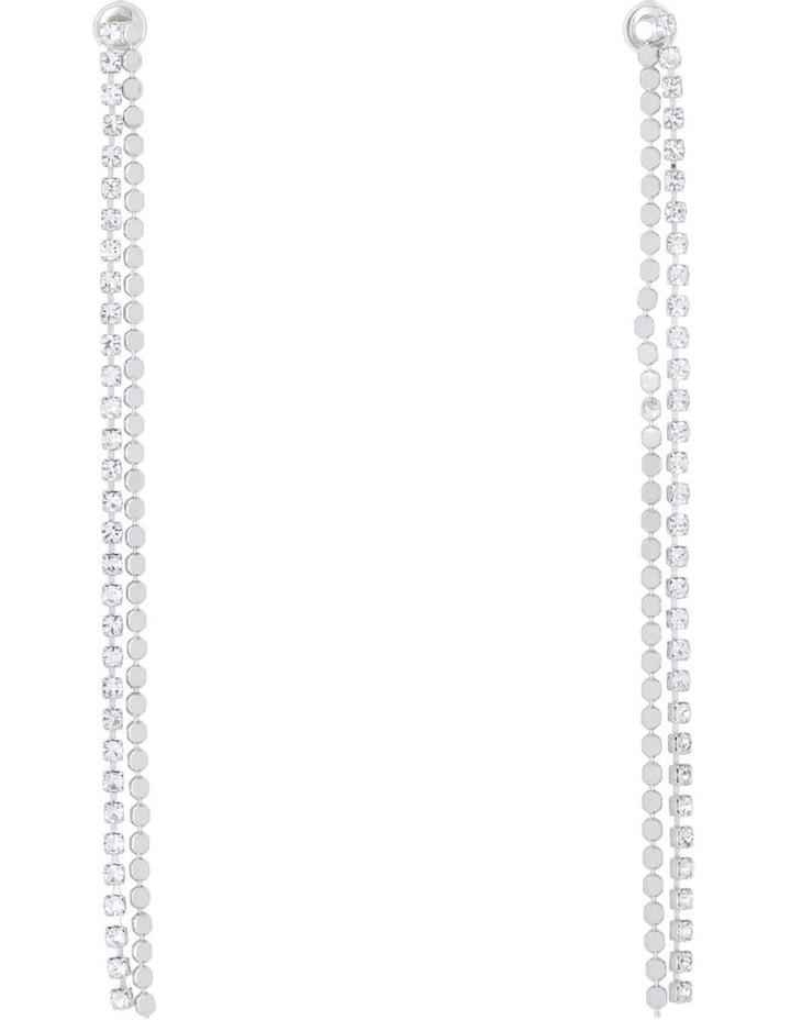 Double Crystal Thread Drop Earring image 1