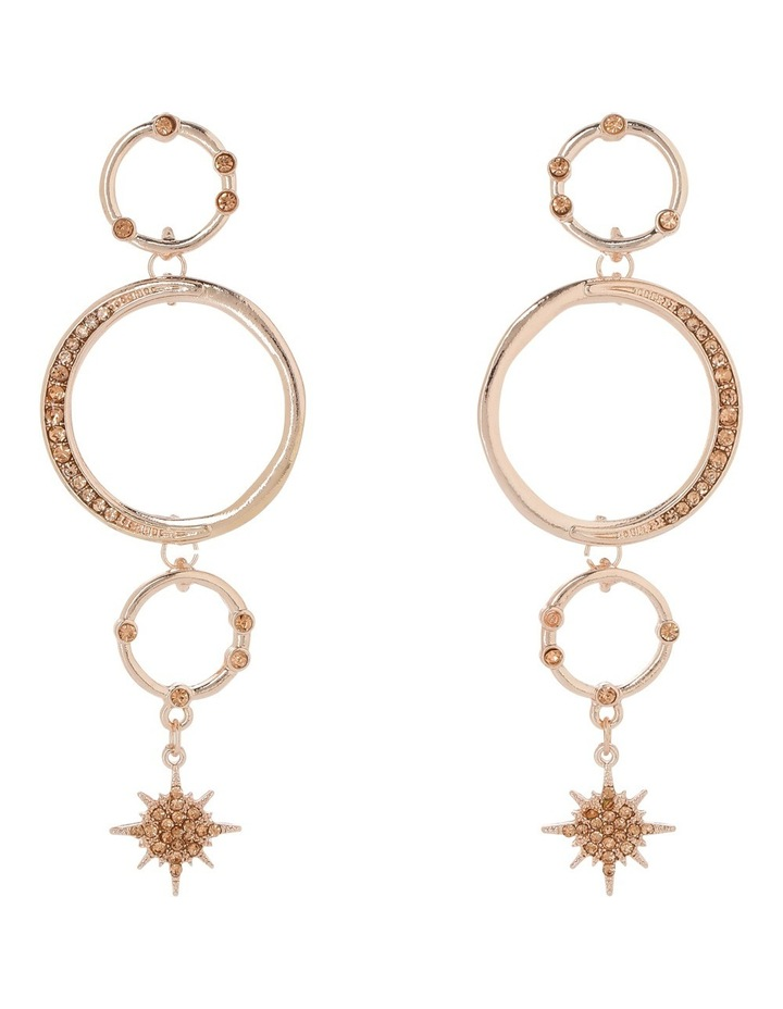 Celestial Hoop Drop Earrings PIPJ1055 image 1