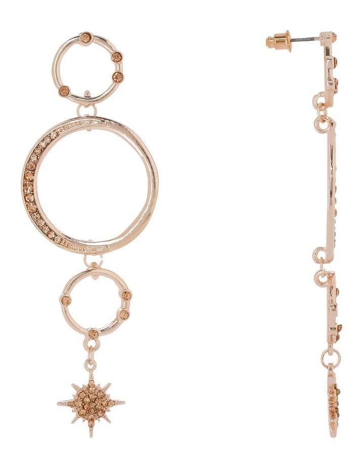 Celestial Hoop Drop Earrings PIPJ1055 image 2