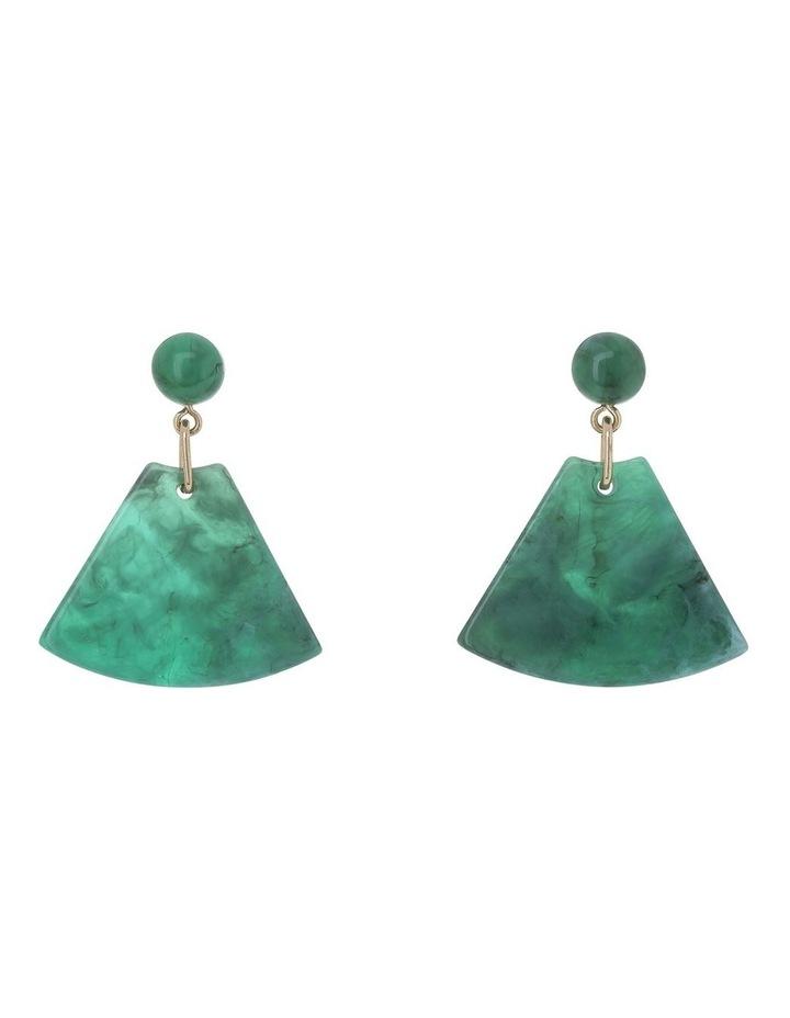 Triangle Drop Earring Green image 1