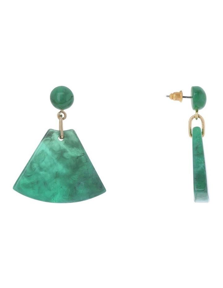 Triangle Drop Earring Green image 2
