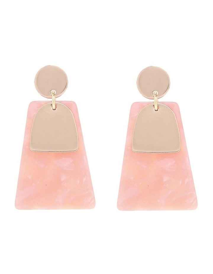 Gold/Blush Abstract Drop Earring image 1