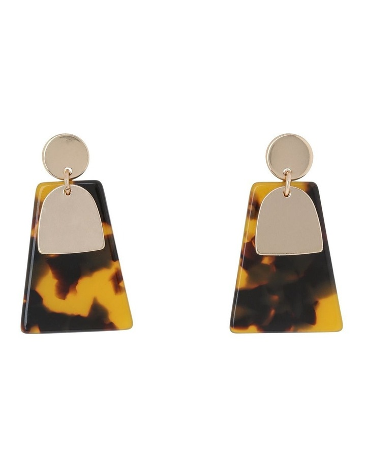 Abstract Drop Earring Gold/Tort image 1