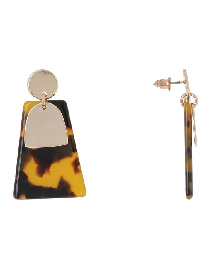 Abstract Drop Earring Gold/Tort image 2