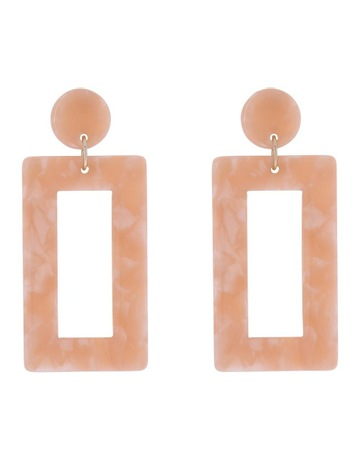 Basque Rectangle Drop Earring Blush 29ae1a0e50