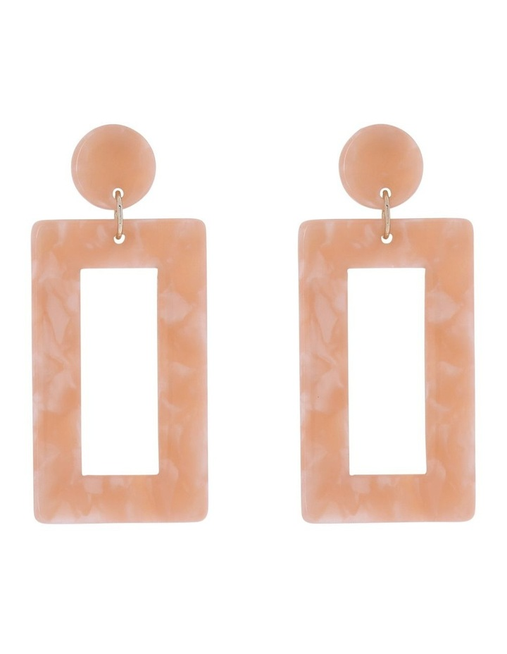 Rectangle Drop Earring Blush image 1