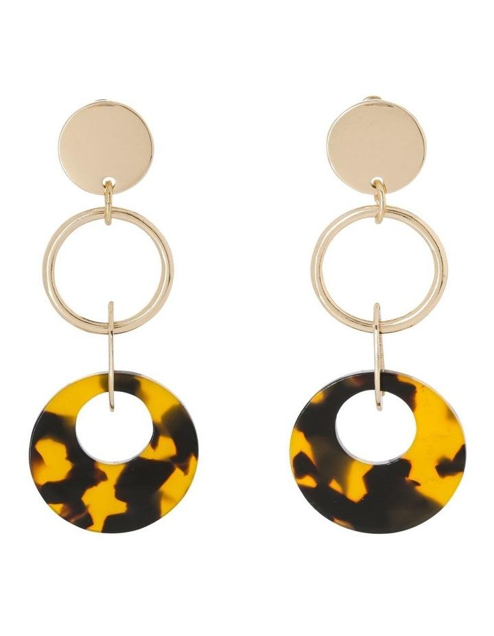 Circle Drop Earring Gold/Tort image 1
