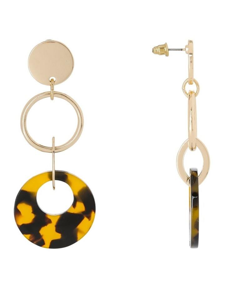 Circle Drop Earring Gold/Tort image 2