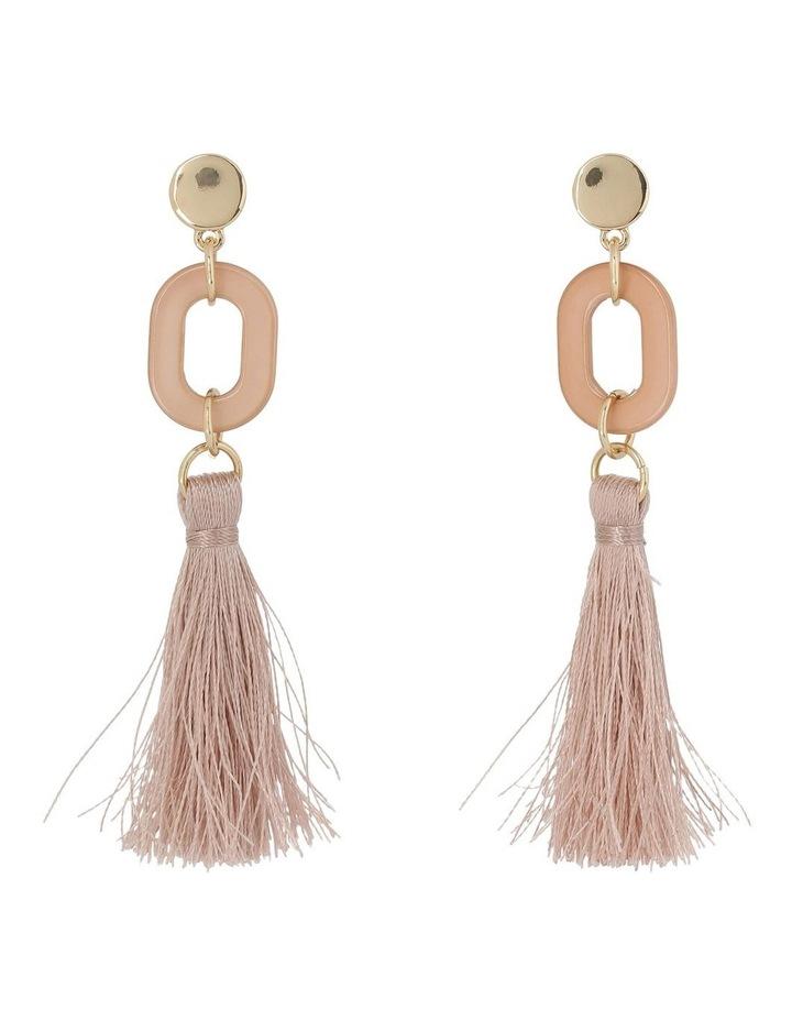 Tassel and Resin Earring Camel image 1