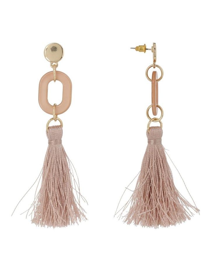 Tassel and Resin Earring Camel image 2