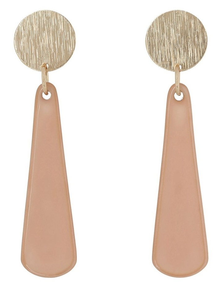 Circle and Sunray Drop Earring Camel image 1
