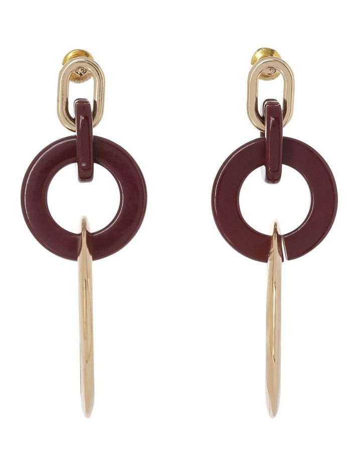 Circle Loop Drop Earring Plum image 1