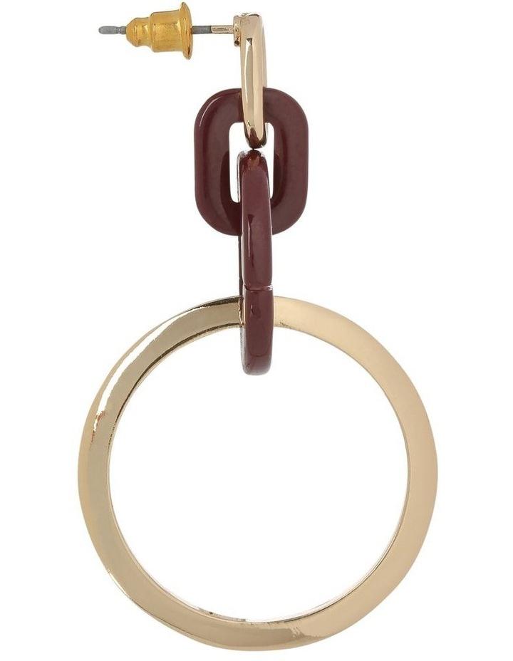 Circle Loop Drop Earring Plum image 2
