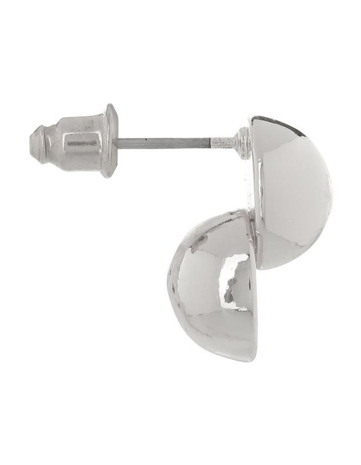 Ball Stud Earring Silver image 2