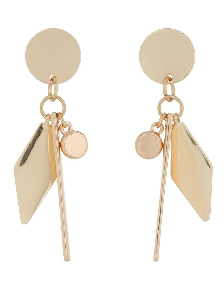Charm Drop Earring Gold image 1